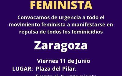 Llamamiento a la participación en las concentraciones convocadas de urgencia por el movimiento feminista en repulsa de los asesinatos machistas