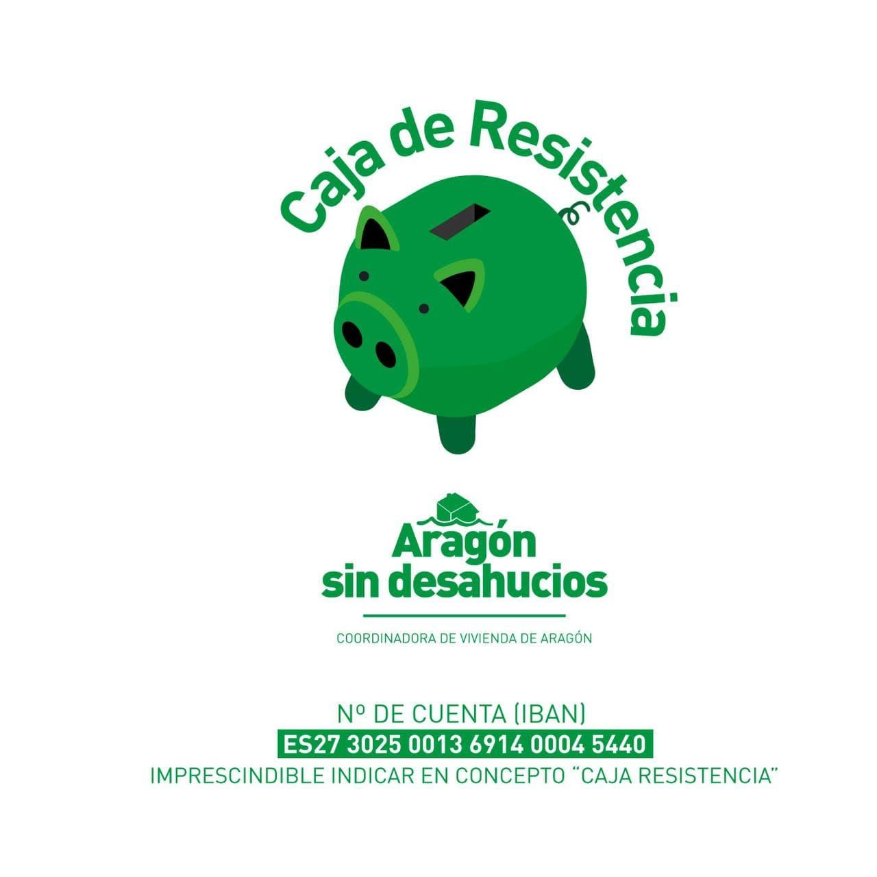 La Coordinadora de Vivienda de Aragón pone en marcha una Caja de Resistencia